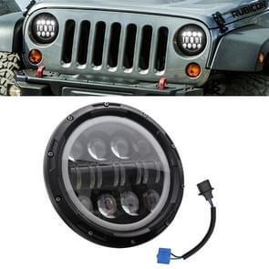 7 inch 40W 4500LM 6000K + 3000K 12 LED auto vrachtwagen off-road voertuig circulaire LED Angel Eye herder lamp koplampen werk lichten Spotlight