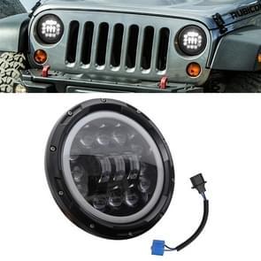 7 inch 40W 4500LM 6000K + 3000K 8 LED auto vrachtwagen off-road voertuig circulaire LED Angel Eye herder lamp koplampen werk lichten Spotlight