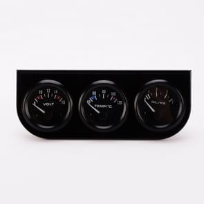 52mm 3 in 1 auto gauge Auto meter Volter + water temp gauge + oliepers gauge