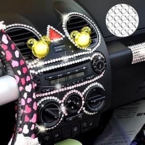 4mm glitter Crystal Diamond decoratie/Shining Rhinestone sticker voor auto sticker & mobiele telefoon ornament (zilver)