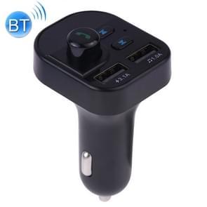 805E Dual USB opladen Bluetooth FM-zender MP3 muziekspeler carkit  ondersteuning hands-free bellen & Lees TF Card/U disk muziek (zwart)