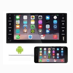 848V 16 7 inch multi-touch scherm auto GPS Navigator  ondersteuning TF-kaart/USB/AUX/MP5 speler/Android & iPhone spiegel links (zwart)