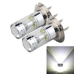 2 PC's H7 60W 1200 LM 6000K auto mistlampen met 12 CREE XB-D LED-lampen  DC 12V (wit licht)