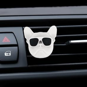 Dog Head Shape Universal Car Air Outlet Aromatherapie (Wit)