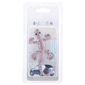 Gecko patroon auto Stickers met roze diamant