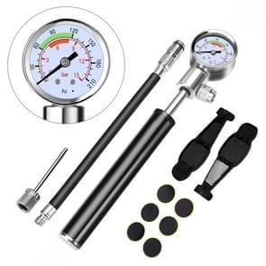Portable High Pressure Pump Bicycle Pump Mini Mountain Bike Pump + Crowbar