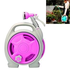 Auto Portable multi-functioneel water Power wasmachine hoge druk mini water pijp (Rose Red)