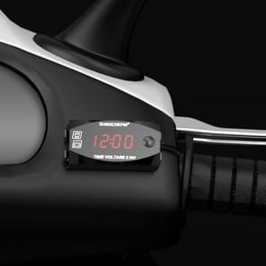 Motorfiets multi-functionele 2 in 1 digitale display voltmeter + elektronische klok  6-30V IP67