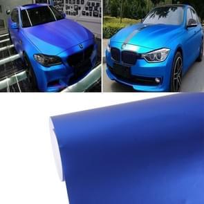 8 m * 0 5 m ijsblauw Metallic mat ijzige ijs Car Decal Wrap Auto inwikkeling voertuig Sticker motorfiets blad Tint Vinyl Air Bubble Sticker (donkerblauw)