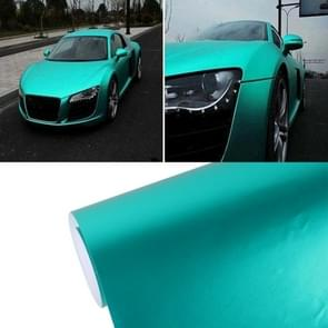 8 m * 0 5 m ijsblauw Metallic mat ijzige ijs Car Decal Wrap Auto inwikkeling voertuig Sticker motorfiets blad Tint Vinyl Air Bubble Sticker (Tiffany blauw)