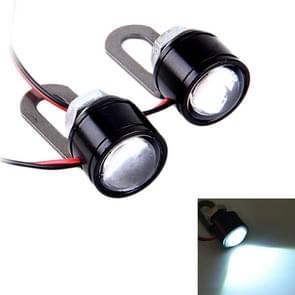 2 PC's 12V 3W Eagle ogen LED licht voor motorfiets  draad lengte: 45cm (wit licht)