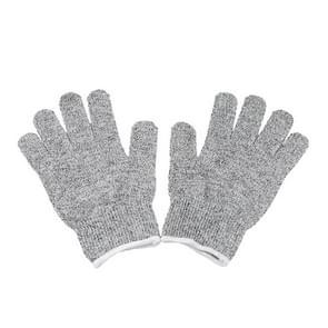 Een paar gesneden bestendige handschoenen tuinieren handschoenen HPPE niveau 5 weerstand tegen snijden handschoenen Anti slijtage veiligheid werken handschoenen niveau 5 anti-slijtage handschoenen  maat: L  lengte: 24 cm