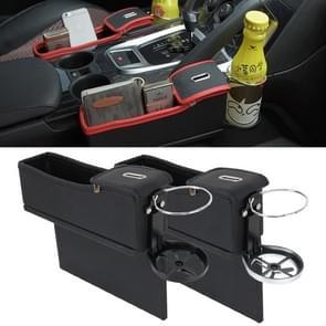 2 stk autostoel spleet opbergdoos met Interval Cup drank houder organisator Auto Gap zak Opbergmiddelen Tidying voor telefoon Pad kaart munt Case Accessories(Black)