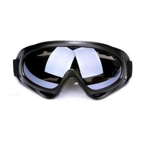 Motorfiets onderdelen bril Anti-UV bril buiten winddicht bril (zwart + grijs)