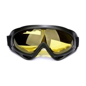 Motorfiets delen bril Anti-UV bril buiten winddicht Glasses(Yellow)
