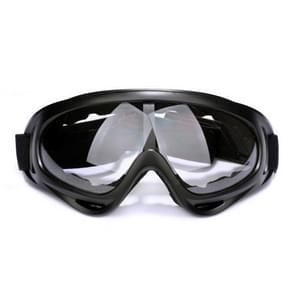 Motorfiets delen bril Anti-UV bril buiten winddicht Glasses(Transparent)