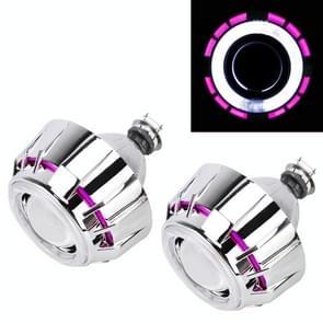 IPHCAR G262 H1 3.0-inch 12V Bi-Xenon Projector Lens koplamp met exquise hoek ogen decoratie voor rechts Driving(Pink)