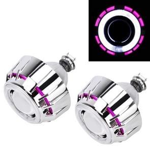 IPHCAR G262 H1 3.0 inch 12V Bi-Xenon Projector Lens koplamp met exquise hoek ogen decoratie voor links Driving(Pink)