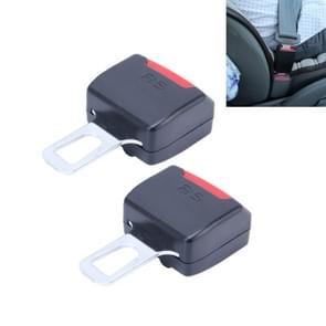 2 PC's RS-01 universele Car Seat Belt extensie Buckle (zwart)