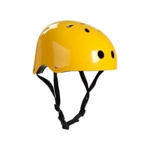 Klimmen uitrusting veiligheid helm grot Rescue kinderen volwassen helm ontwikkeling buiten wandelen skiën leveringen geschikt Hoofdomtrek: 54-57cm  formaat: M(Yellow)