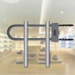 Glazen deur dubbel open U-Lock anti hydraulische shear verlengde mechanische code slot (grijs)