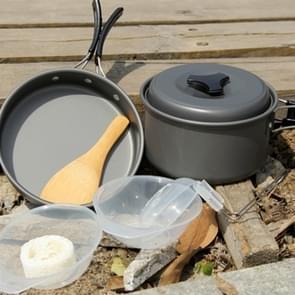 DS-300 buiten Camping Ultra lichtgewicht 9 delige Kookwaren stapelbare Set