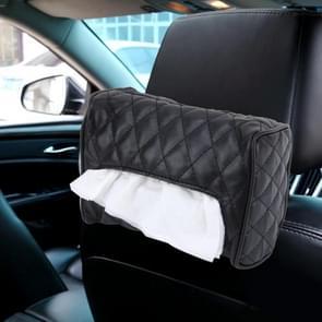 Auto Auto lederen zonneklep Backseat Hanger weefsel vak papieren servet zak (niet inclusief servet) (zwart)