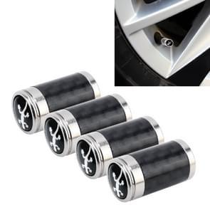 4 stuks Carbon Fiber gas cap mondstuk cover gas cap Tire Cap auto motor fietsband Valve Caps