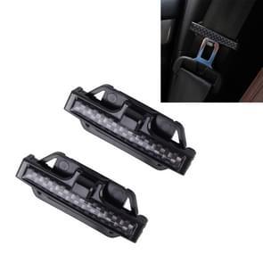 DM-013 2st Universal passen auto veiligheidsgordel Adjuster Clip riem riem klem schouder nek Comfort aanpassing kind veiligheid stop Buckle(Black)