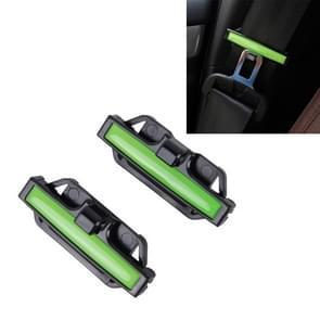 DM-013 2st Universal passen auto veiligheidsgordel Adjuster Clip riem riem klem schouder nek Comfort aanpassing kind veiligheid stop Buckle(Green)