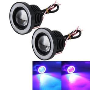 2 PC's universele 3-Inch LED Angel ogen R500 hoge intensiteit LED lampen auto mist lichte Halo Angel Eyes ringen mist Lamp IP65 waterdicht 900LM 10W 6000K auto mist mistlichten met afstandsbediening  DC 12V