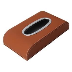 Universele thuiskantoor Hotel auto gezicht weefsel vak hoes houder weefsel vak papieren servet zak (niet inclusief servet) (bruin)