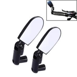 2 stuks Mini universele verstelbare achteruitkijkspiegel achterzijde Reflector voor fiets / mountainbike