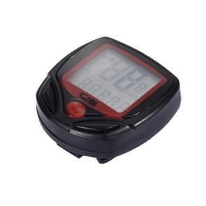 Sunding Engelse waterdicht 14 functie cyclus Computer LCD Odometer snelheidsmeter