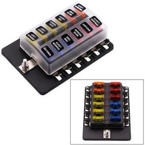 1 op de 12 uit Fuse Box PC Terminal blok zekering houder Kits met LED-Indicator van de waarschuwing voor Auto Auto Truck boot