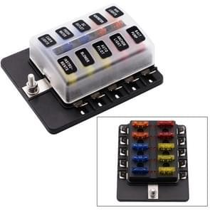 1 op de 10 uit Fuse Box PC Terminal blok zekering houder Kits met LED-Indicator van de waarschuwing voor Auto Auto Truck boot
