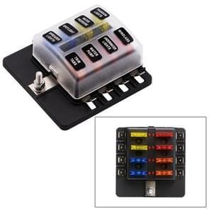 1 op de 8 uit Fuse Box PC Terminal blok zekering houder Kits met LED-Indicator van de waarschuwing voor Auto Auto Truck boot