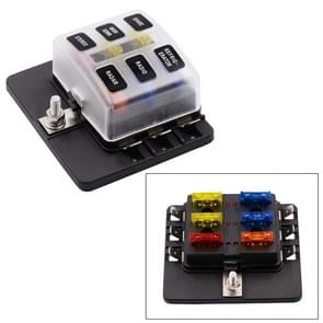 1 in 6 uit Fuse Box PC Terminal blok zekering houder Kits met LED-Indicator van de waarschuwing voor Auto Auto Truck boot