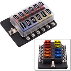 1 op de 12 uit Fuse vak schroef Terminal sectie zekering houder Kits met LED-Indicator van de waarschuwing voor Auto Auto Truck boot