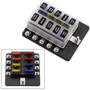 1 op de 10 uit Fuse vak schroef Terminal sectie zekering houder Kits met LED-Indicator van de waarschuwing voor Auto Auto Truck boot
