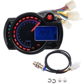 Motorfiets bewerkt instrumentenpaneel 12V LCD-scherm verstelbaar mijl olie Meter Water Temperatuur Meter kilometerstand 2-4 cilinder