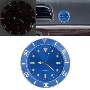 Auto plakken klok auto lichtgevende horloge (blauw)