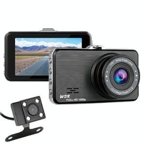 SE021 3 inch 170 graden groothoek Full HD 1080P dual lens video auto DVR  ondersteuning TF Card/loop Recording/G-sensor