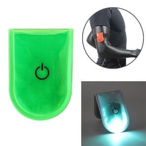 2 PCS Outdoor Night Running Veiligheidswaarschuwing Licht LED verlichte magneetclip licht (groen)