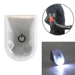 2 PCS Outdoor Night Running Veiligheidswaarschuwing Licht LED verlichte magneetclip licht (wit)