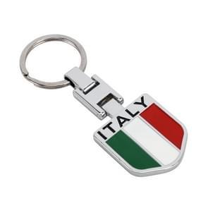 Auto Italiaanse vlag patroon sleutelhanger Metaal Sleutelhanger
