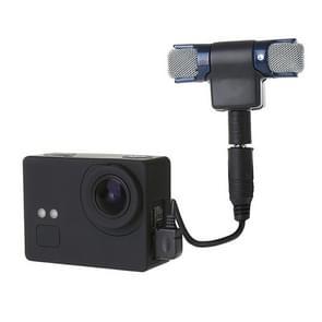Externe Mini Stereo MIC microfoon met 17CM 3.5mm naar Mini USB 10 pins Adapter Kabel voor GoPro HERO 4 / 3 + / 3  microfoon Afmeting: 5.5 * 5.5 * 1 5 cm