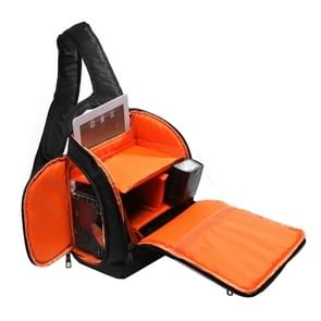 INDEPMAN DL-B011 Portable Scratch-proof Outdoor Sports Sling Shoulder Bag Chest Pack Micro Single Camera Bag Phone Bag for GoPro  SJCAM  Nikon  Canon  Xiaomi Xiaoyi YI  Apple  Samsung  Huawei  Size: 30 x 18 x 26 cm(Orange)