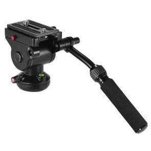Metalen zware videocamera actie vloeistof slepen statiefkop schuifsysteem plaat voor DSLR & SLR camera's (zwart)