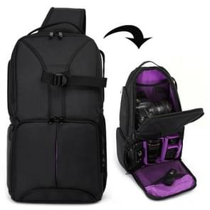 HUWANG Waterproof Shoulder Backpack  Padded Shockproof Camera Case Bag for Nikon(Purple)
